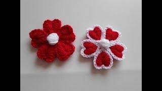 Download como hacer flor a crochet para san valentin / how to make crochet flower Video