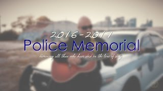 Download Police Memorial Tribute for Fallen Officers Video