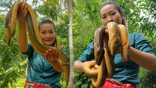 Download Amazing Cooking Big Eels with Young Pepper - Fried Eel Recipe Video