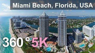 Download Miami Beach, Florida, USA. Aerial 360 video in 5K Video