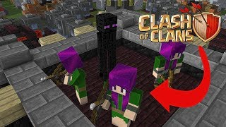 Download Monster School: Attacking Clash Of Clan Village - Minecraft Animation Video