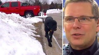 Download Frantic Dog Begs Cop To Follow Him…Seconds Later, Both Are Instant Heroes Video