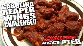 Download CAROLINA REAPER WINGS CHALLENGE │ WORLD'S HOTTEST PEPPER!! Video