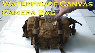 Download Tepoinn Waterproof Canvas Camera DSLR Bag Video