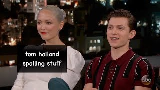 Download tom holland spoiling stuff for 4 minutes straight Video