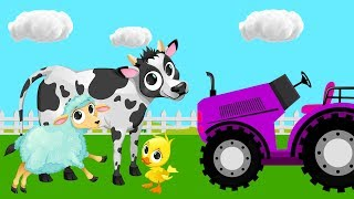 Download Tractors for Kids With Farm Animals - Harvesters and Tractors Cartoon for Toddlers 4 Video