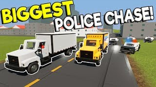 Download BIGGEST LEGO POLICE CHASE GETAWAY EVER! - Brick Rigs Multiplayer Gameplay - Cop Roleplay Video