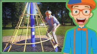 Download Learn Colors with Blippi   Playing at the Playground Video