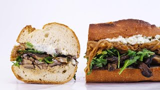 Download Katie Lee's Grilled Portobello, Blue Cheese and Caramelized Onion Hoagie Video