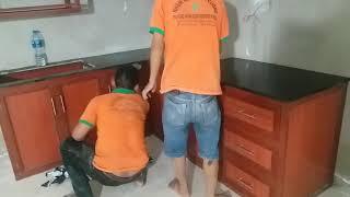 Download Báo Giá Tủ Kệ Bếp Nhôm Kính Giả Vân Gỗ Treo Tường Làm Đẹp HCM Video