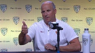 Download 2018 Pac-12 Football Media Day: USC's Clay Helton podium session Video