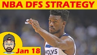 Download NBA DFS Projections & Strategy | Thursday 1/18 | FanDuel & DraftKings Video