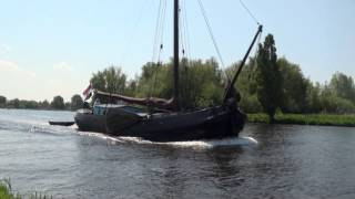 Download Many different boats sailing on beautifull Dutch Lakes Video