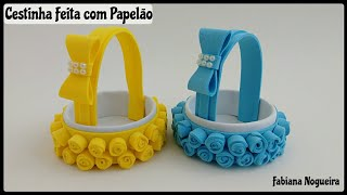 Download Cestinha Feita com Papelão e EVA 💖 / Mini Cesta 💞 Video