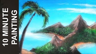 Download Painting a Rocky Island Beach with Acrylics in 10 Minutes! Video