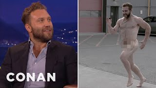 Download A Naked Jai Courtney Terrorized The Director Of ″Suicide Squad″ - CONAN on TBS Video