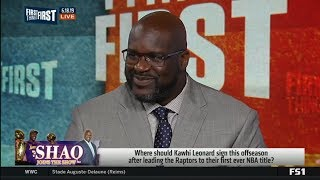 Download FIRST THINGS FIRST | Shaq RESPOND: Where should Kawhi sign offseason after win NBA title with TOR? Video