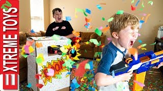 Download Sneak Attack Squad Birthday Confetti Blaster Nerf Battle! Video
