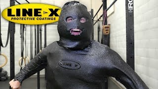 Download I SPRAYED MY ENTIRE BODY WITH LINE-X!! (LINE-X EXPERIMENT) As Seen On TV Test! Video