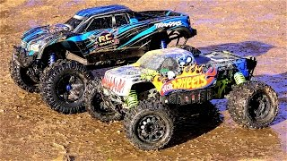 Download RC ADVENTURES - TRAXXAS X-MAXX vs HPi SAVAGE FLUX XL HOT WHEELS 4x4 Monster Truck Madness Video
