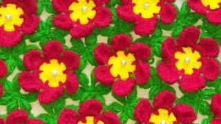 Download Flower Thalposh banane ki vidhi, woolen rumal design, #88,by ||Santosh All Art || Video