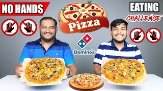 Download NO HANDS PIZZA EATING CHALLENGE   Domino's Pizza Eating Competition   Food Challenge Video
