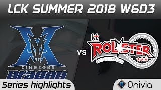 Download KZ vs KT Series Highlights LCK Summer 2018 W6D3 KingZone DragonX vs KT Rolster by Onivia Video
