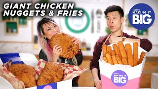 Download I Made Giant Chicken Nuggets And Fries For A Competitive Eater • Tasty Video
