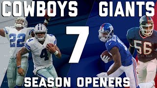 Download Dallas Cowboys vs. New York Giants 7 Season Openers | Flashback Friday | NFL Highlights Video