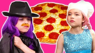 Download PRINCESS PIZZA PARTY 🍕 Malice Pranks Lilliana With Cheese! - Princesses In Real Life | Kiddyzuzaa Video