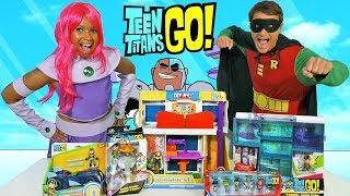 Download Teen Titans Go Toy Challenge - Starfire Vs Robin !    Toy Review    Konas2002 Video