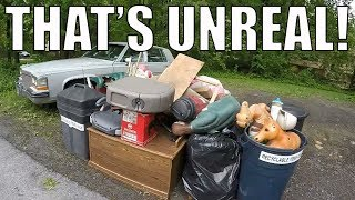 Download I FOUND ALL OF THIS IN THE TRASH! Garbage Day Picking! Video