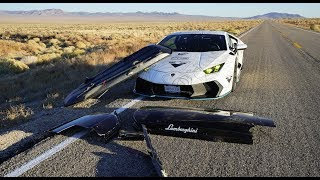Download HIGH SPEED DISASTER Lamborghini's Ski Box FLEW OFF! Video