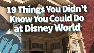 Download 19 Things You Didn't Know You Could Do in Disney World Video
