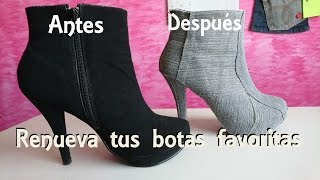Download Forra tus botas viejas con mezclilla y renuévalas DIY Video
