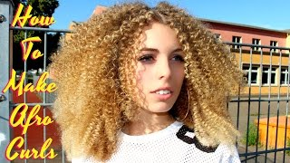 Download BEST Tutorial EVER !! How To Make Straight Hair Super Tight Small Spiral Afro Curly / Straw Set Video
