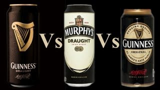 Download Comparing Guinness Draught In A Can 4.1%, Murphys Draught In A Can 4.0%, Guinness Original 4.2% Video