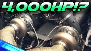 Download 4000hp pair of TWIN TURBO Lambos! Video