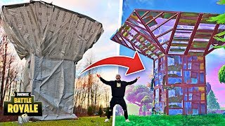 Download FORTNITE PORT-A-FORT IN REAL LIFE!! **Fortnite Items In Real Life DIY** Video