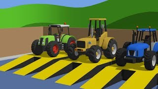 Download Learn Colors with Tractor and other machines & Cartoon for babies | Compilation / Kolory #BAJKI Video