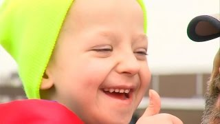 Download 5-Year-Old Boy Welcomed Home After 18 Months In Hospital Fighting Cancer Video