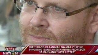Download Iba't ibang katangian ng mga Pilipino, pinuri ng isang Amerikanong propesor sa kanyang ″love letter″ Video