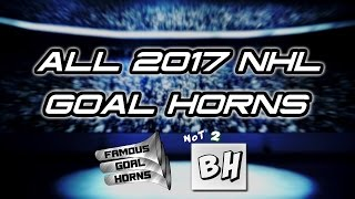 Download ALL NHL Goal Horns (2016-2017) Video