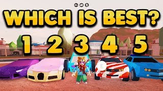 Download ROBLOX JAILBREAK WHAT IS THE BEST CAR IN THE GAME!? (ROBLOX EXPERIMENT) Video