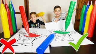 Download GIANT 3 MARKER CHALLENGE !!! - Avec des Feutres Géants XXL Video