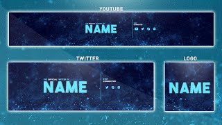 Download Free YouTube Banner Template | Photoshop (Banner + Logo + Twitter PSD) 2016 Video