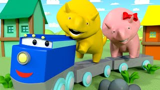 Download Learn Colors - Dino & Dina Learn About the Yellow Colour - Learn with Dino the Dinosaur 👶 Educati... Video