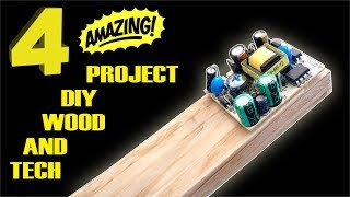 Download 4 AMAZING project diy LOW COST wood and tech Video
