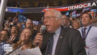 Download Bernie Sanders surprises crowd, moves to nominate Clinton by voice vote at the 2016 DNC Video