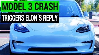 Download Tesla Model 3 Crash Gets Quick Response from Elon Musk Video